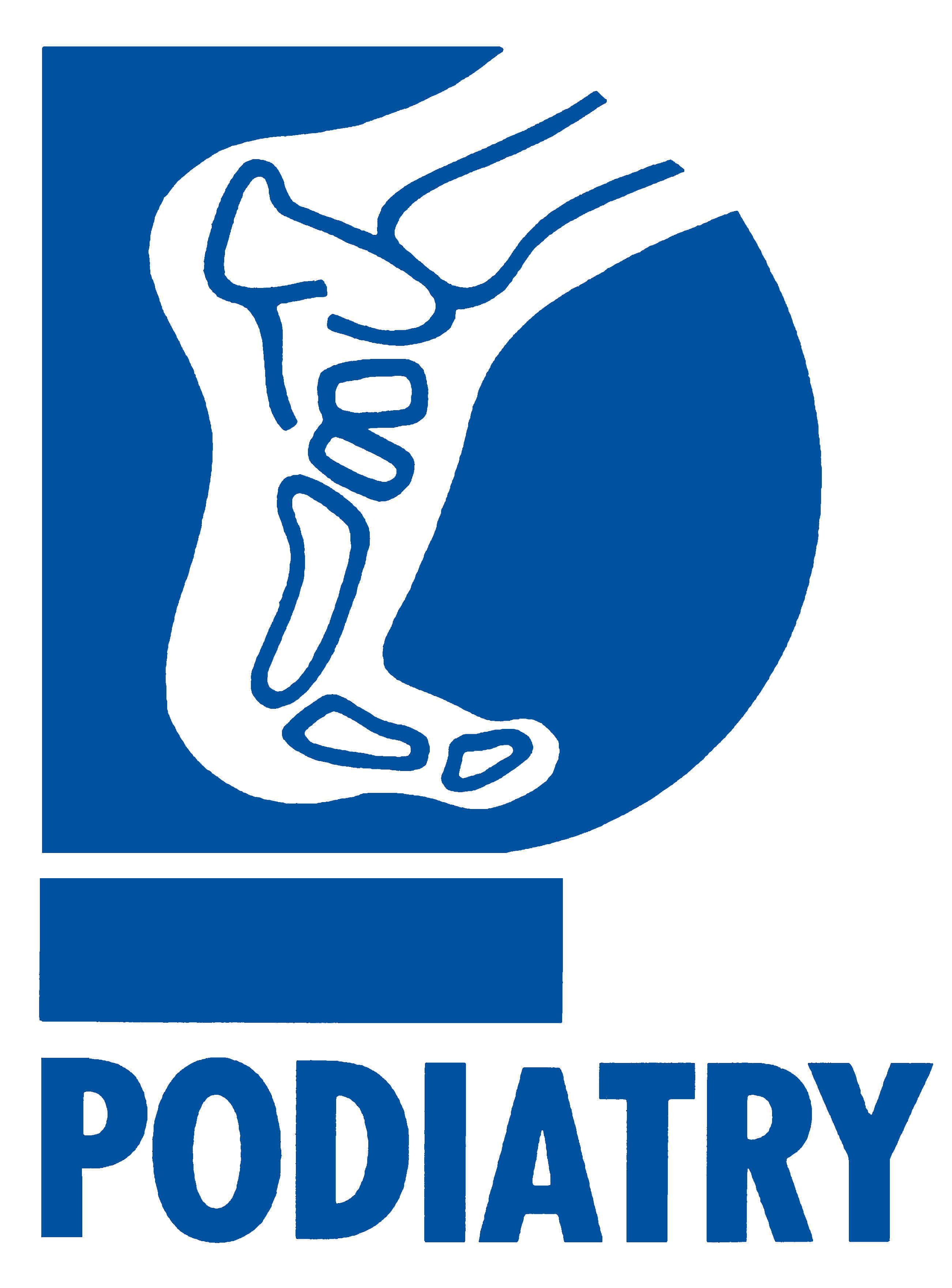 Current General logo 'podiatry' light blue